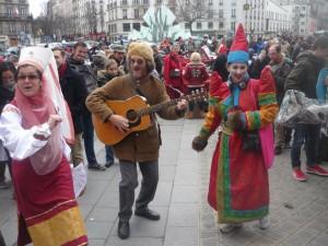 Les goguettiers cau Carnaval de Paris 2015 place Gambetta
