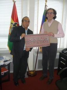 Sergio Caceres Garcia et Basile Pachkoff à l'UNESCO - Paris 2 mars 2015